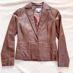 Worthington XSmall Women's Leather Blazer/ Jacket